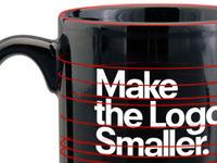 Bending type on a mug