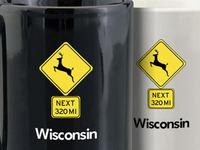Deer Crossing Next 320 Miles Mug