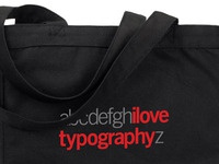Ilovetypography A-Z Bag