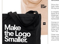 Make The Logo Smaller Bag Product Page