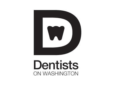Dentists On Washington Logo logo mark brand dentist dental black white