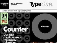 Counter: Typographic Anatomy T Shirt Mailing
