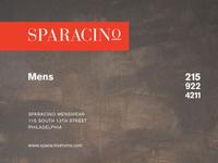 Sparacino Men's Store Ad