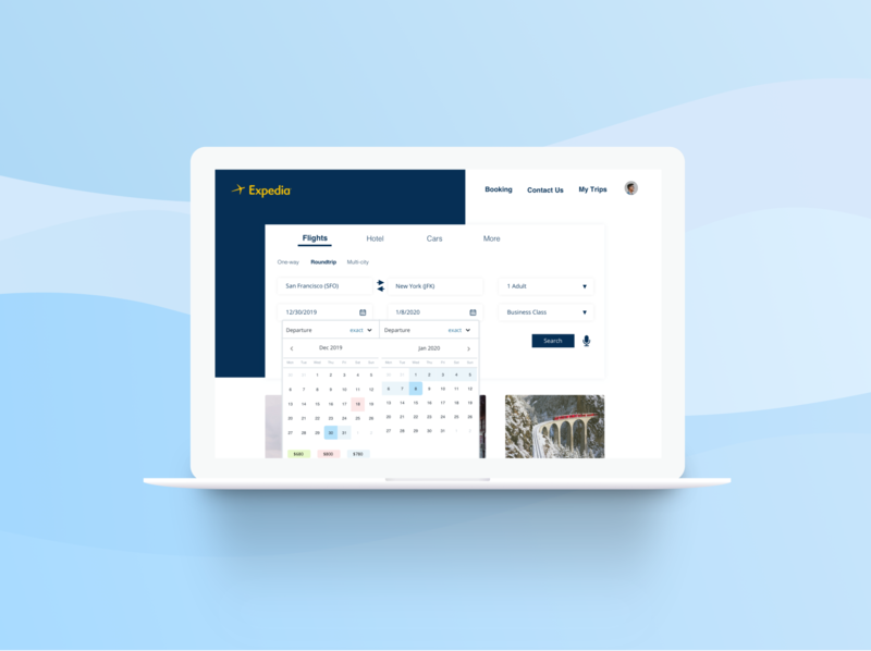 Expedia website redesign