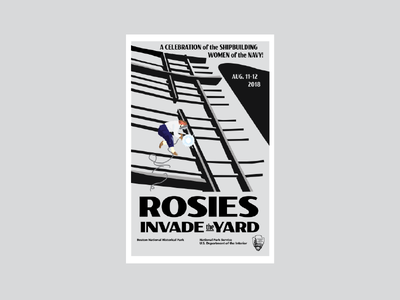 Rosies Invade the Yard Poster