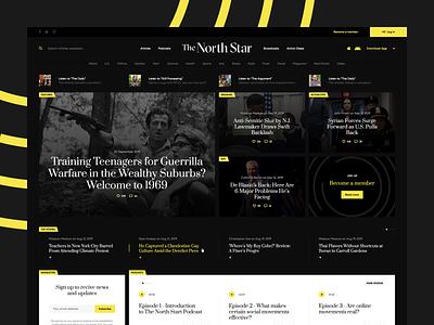 TheNorthStar ⭐️ web illustration branding minimalistic onepage landingpage dark wordpress newspaper news information portal ux ui webdesigner webdesign website