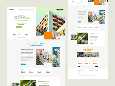 CubeInspire agency visiontrust theme wordpress ux ui minimalist realestate landingpage onepage webdesigner webdesign website web