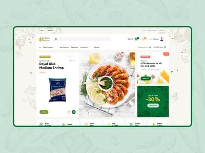 FoodCo 🍎🥩🍋🌽🥖🧀 visiontrust poland agency design illustration foodshop food shop onepage landingpage ux ui webdesigner webdesign website web ecommerce