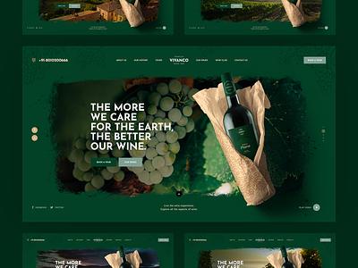 Vivanco 🍇 design agency poland landingpage onepage illustration mockup vineyard wine webdesigner ux ui webdesign website web