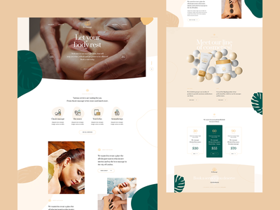 BeMassage 💆‍♀️💆‍♂️ theme wordpress visiontrust poland design ux ui health massage landingpage onepage webdesigner webdesign website web