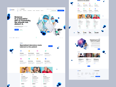 Exolab 🧪🦠🔬 design wordpress poland web webdesign website landingpage onepage ux ui laboratory