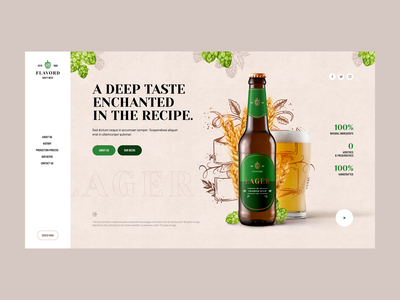 Flavord 🍻 branding poland illustration design intro hero onepage landingpage ux ui craftbeer beer webdesigner webdesign website web