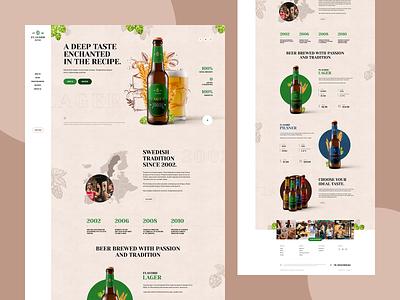 Flavord 🍻 wordpress bravery craftbeer beer branding ux ui landingpage onepage webdesign website web