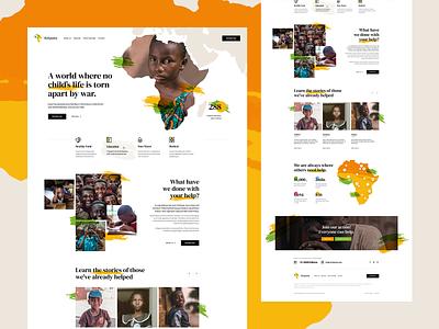 NGO Kalypsia 🧡💚 visiontrust africa charity ngo illustration ux ui landingpage onepage webdesign web website