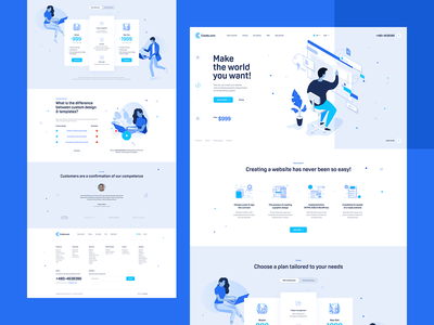 Create.com illustration agency wordpress landingpage onepage webdesign design ui ux website web