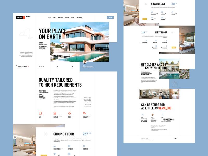 SunsetAve6 wordpress landingpage onepage webdesign website design ux ui house home estate realestate