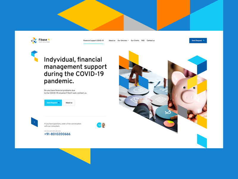 Fibase 💰 branding ui ux web landingpage onepage webdesign design website money finance