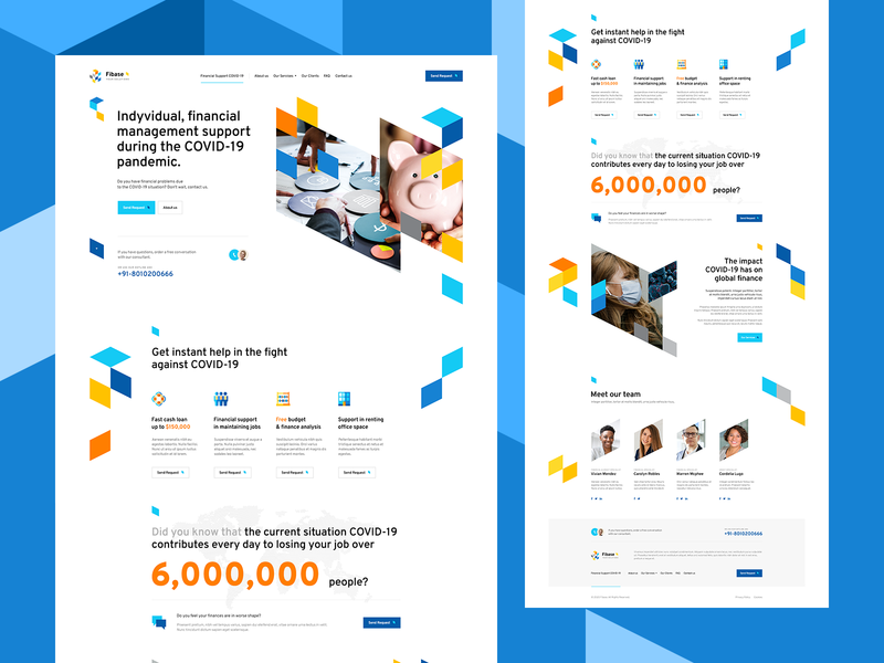Fibase 💰 illustration branding agency money ui ux design landingpage onepage webdesigner webdesign website web finanse