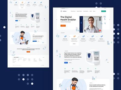 Healthkon 👩⚕️ chatapp videoapp videochat doctor medical health ux ui branding landingpage onepage web webdesign design website