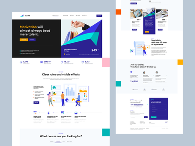 ↗️ ASSION wordpress course illustration landingpage onepage webdesign web design ux ui website