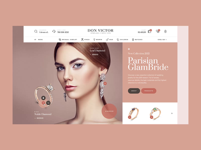 Don Victor Jewelers 💍 jewels woocommerce wordpress design gold jewellery jewelry onlineshop shop ecommerce onepage landingpage ux ui webdesigner website webdesign web