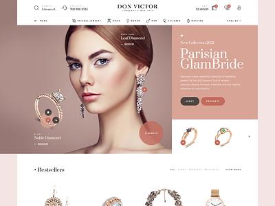 Don Victor Jewelers 💍 jewels woocommerce wordpress design gold jewellery jewelry onlineshop shop ecommerce onepage landingpage ux ui webdesigner website webdesign web