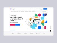 TheXpert 👩💻👨💻 minimalist poland agency illustration wordpress hero intro design freelance freelancer landingpage onepage ux ui webdesign webdesigner website web