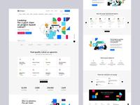 The Xpert 👩💻👨💻 agency design poland landingpage minimalist illustration expert upwork freelancer onepage ux ui web webdesigner webdesign website