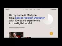 martyna.cv katowice website design poland visiontrust agency wordpress theme design minimalistic typography animation cv web ui ux onepage landingpage website webdesigner webdesign