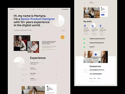 martyna.cv minimalist animation typography poland design cv wordpress designer portfolio designer portfolio onepage landingpage ux ui webdesigner webdesign website web