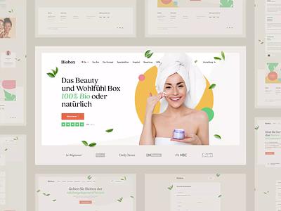 Biobox 🌿 packingdesign design poland visiontrust wordpress suprisebox beauty healthy natural box cosmetics ux ui shoponline ecommerce onepage landingpage webdesign website web