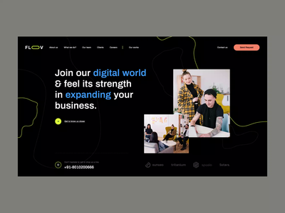 Floov ecommerce webdevelopment illustration visiontrust poland minimalistic webanimation animation designagency webdesigner wordpress agency design onepage landingpage webdesign web website ux ui