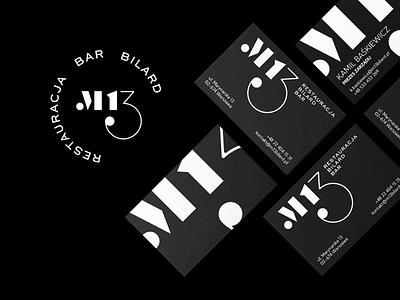 M13 logo design bar restaurant website poland ui typography logoanimation logodesign logotype brand animation illustrator mark identity branding design logo branding