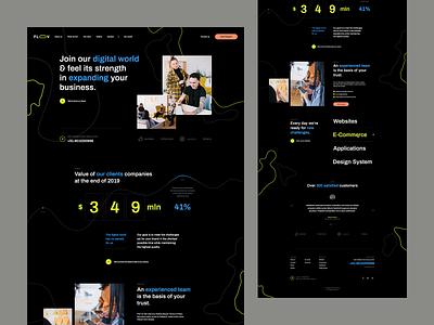 Floov visiontrust theme poland wordpress animations minimalistic abstract agency onepage landingpage web design web ux ui webdesigner webdesign website