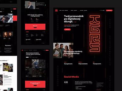 TIGERS 🐯 logo branding poland ux ui neon animations design webdesignagency tigers digitalagency socialmedia webdesign website web