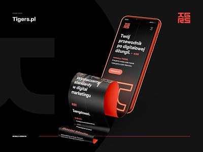 TIGERS 🐯 landingpage branding logo design webdesigner ux ui mockup iphone mobile tigers socialmedia webdesignagency webdesign website web