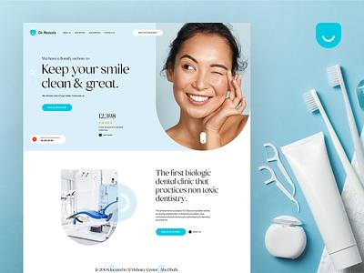 Dr. Rocco Specialized Dental Center minimalist wordpress digitalagency agency poland visiontrust ux ui logo branding dentistry dentist onepage landingpage webdesigner webdesign web website