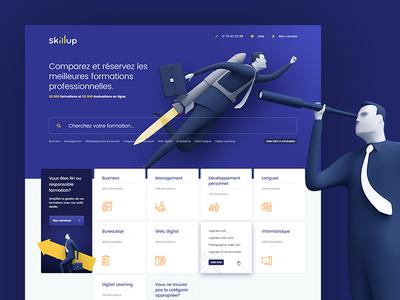 Skillup website paris france hero skill brandhero design webdesign