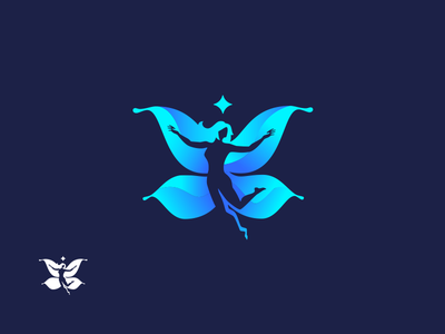 DreamLife 🦋 visiontrust poland agency woman butterfly identity corporate id logo coach life dream