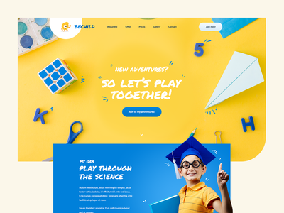 Children's animator 🍭 ux ui visiontrust children kids monster wordpress theme webdesign web