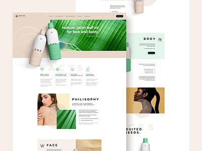 BECOS 🌿 website ux ui katowice poland visiontrust agency bio eco landingpage onepage product leaf palm oil beauty cosmetics