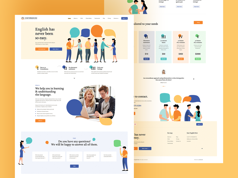 English Now 🇬🇧 agency katowice poland visiontrust landingpage onepage webdesign website ux ui design flat illustration school teacher teach student learn english