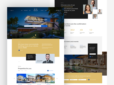 Creegan Property Group realestate home broker california usa poland website onepage landingpage hero herosection wordpress theme godaddy luxury prestige design ui ux