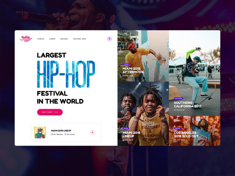 Rolling Loud 🤘 hiphop rap festival rolling loud rollingloud theme wordpress onepage landingpage music spotify app mobileapp news heropage welcomepage usa poland website
