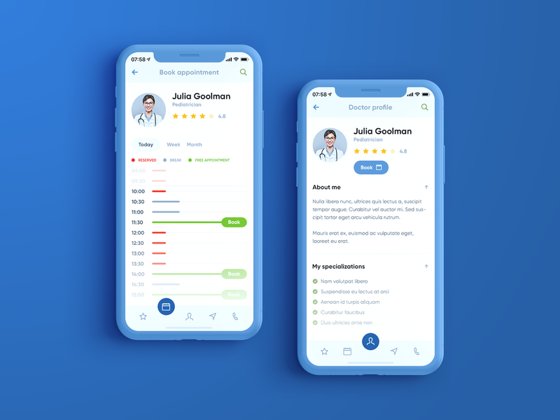 Appointment 👩⚕️📆 App book iphone iphonex agency poland visiontrust appointment profile calendar hospital doctor mockup apple ios app mobileapp healthy