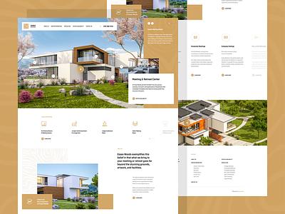 Essex Woods webdesigner solutions minimalist web design ui ux app theme wordpress landingpage onepage webdesign website mockup hero welcome travel wood holiday