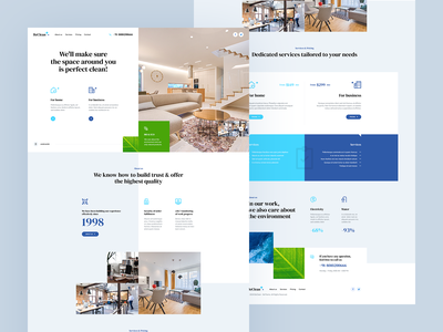 BeClean ✨ minimalist animation web theme clean illustration branding app katowice visiontrust agency poland ux ui design wordpress landingpage webdesign website onepage