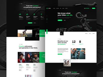 Bike Service 🚴♂️ onepage website webdesign landingpage wordpress design ui ux webanimation poland agency visiontrust app branding illustration web minimalist bike bicycle animation