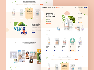 Seabedee 🌿 welcome hero mockup website webdesign onepage landingpage wordpress theme app ux ui design web minimalist webdesigner cbd cannabis ecommerce