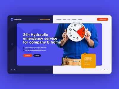 Hydraulic Emergency 🚨💧 visiontrust poland agency design wordpress theme icons illustration landingpage onepage ux ui webdesigner webdesign website web